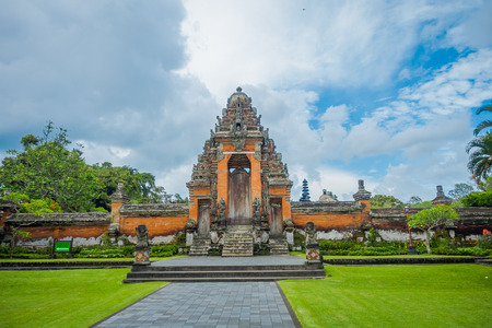 BALI, INDONESIA - MARCH 08, 2017: Royal temple of Mengwi Empire located in Mengwi, Badung regency that is famous places of interest in Bali, Indonesia Editorial