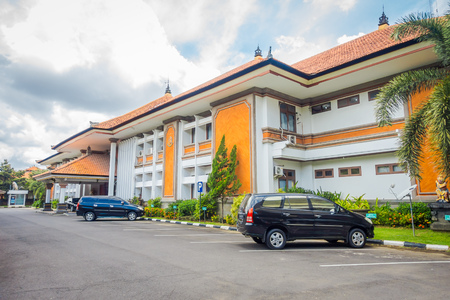 goverment: BALI, INDONESIA - MARCH 08, 2017: Centre building is a goverment office complex building located in Densapar, Bali Indonesia