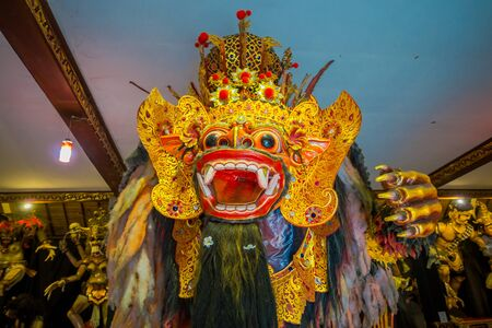 BALI, INDONESIA - MARCH 08, 2017: Impresive hand made structure, Ogoh-ogoh statue built for the Ngrupuk parade, which takes place on the even of Nyepi day in Bali, Indonesia. A Hindu holiday marked by a day of silence