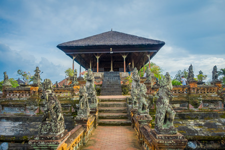 BALI, INDONESIA - MARCH 08, 2017: Semarapura, Kertha Gosa Pavilion in Klungkung Palace, in Denpasar Indonesia Editorial