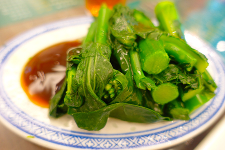 seller: Close up of a healthy delicious meal served in a restaurant in the city of Hong Kong, China. Stock Photo