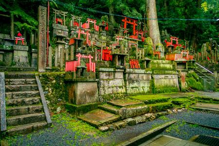 shinto: KYOTO, JAPAN - JULY 05, 2017: Mitsurugi Shrine Choja Shrine prayer area at Fushimi Inari Taisha Shrine. a famous historic site in Kyoto, Japan