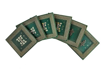 Central Processing Unit CPU isolated on white background