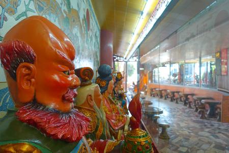 HONG KONG, CHINA - JANUARY 26, 2017: Tsz wan temple, with a hell representation, with a clay figures in Hong Kong, China Editorial