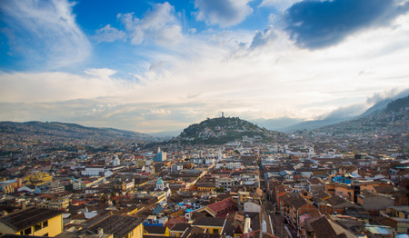 View of the historic center of Quito, Ecuador Archivio Fotografico