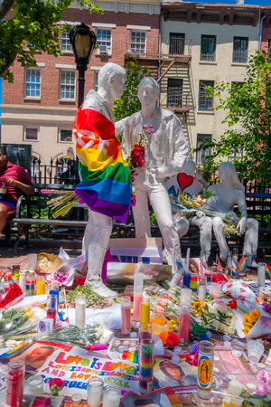 ORLANDO, USA - MAY 05, 2017: Place where Omar Mateen, killed 49 people and wounded 53 others in a terrorist attack hate crime in a gay nightclub in Orlando, Florida, United States