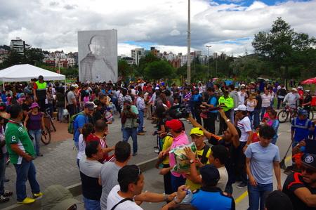 fema: Quito, Ecuador - April,17, 2016: Unidentified citizens of Quito providing disaster relief food, clothes, medicine and water for earthquake survivors in the coast