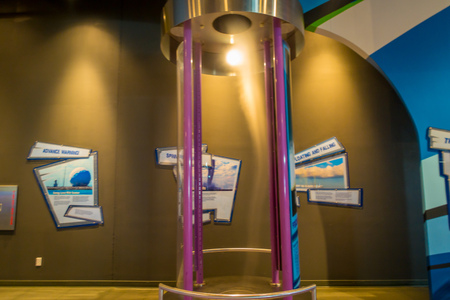 FORT LAUDERDALE, USA - JULY 11, 2017: Indoor view of the Museum of discovery and science with a wind machine located in Fort Lauderdale, Florida