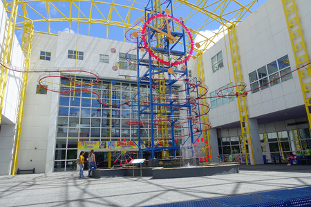 FORT LAUDERDALE, USA - JULY 11, 2017: Beautiful visit of the Museum of discovery and science at indoors located in Fort Lauderdale, Florida