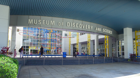 FORT LAUDERDALE, USA - JULY 11, 2017: Beautiful visit of the Museum of discovery and science located in Fort Lauderdale, Florida Editorial