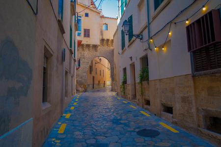 Street in old city of Palma de Mallorca, Spain Stock Photo