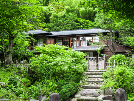 KYOTO, JAPAN - JULY 05, 2017: Beautiful and stylized japanesse house in Kyoto