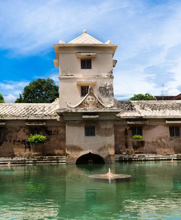 bath: JOGJA, INDONESIA - AUGUST 12, 2O17: Taman Sari water palace of Yogyakarta on Java island, Indonesia Editorial