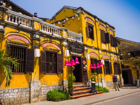 Hoian, Vietnam - November 05, 2016: Old houses in Hoi An ancient town. Hoi An is one of the most popular destinations in Vietnam