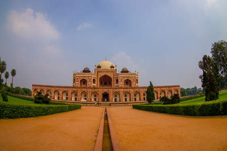 DELHI, INDIA - SEPTEMBER 19, 2017: Beautiful view of Humayun s Tomb, Delhi, India. Sajtókép