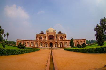 DELHI, INDIA - SEPTEMBER 19, 2017: Beautiful view of Humayun s Tomb, Delhi, India. Sajtókép