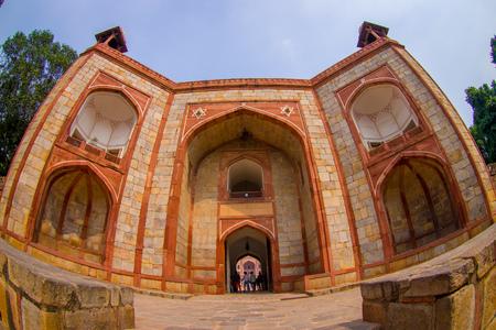 DELHI, INDIA - SEPTEMBER 19, 2017: Close up of Humayun s Tomb, Delhi, India. Stock fotó - 88009735