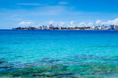 Amazing beautiful view of San Andres Island from Johnny Cay in a gorgeous sunny day in San Andres, Colombia