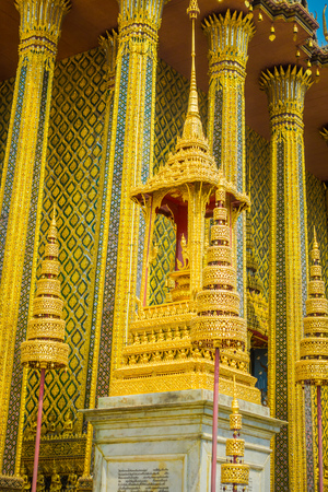 Outdoor virw of Wat Phra Kaew, Temple of the Emerald Buddha at Bangkok, Thailand 写真素材