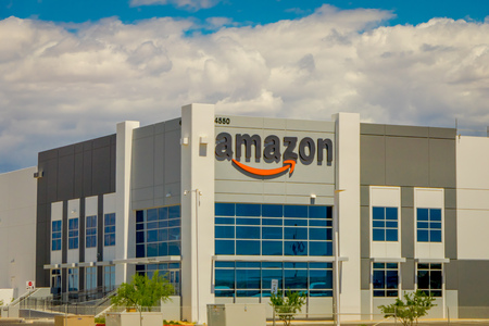 Las Vegas, NV, USA, June 15, 2018: Outdoor view of Amazon building Fulfillment Center. Amazon is the Largest Internet-Based Retailer in the United States