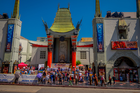 Los Angeles, California, USA, JUNE, 15, 2018: Historic Graumans Chinese Theater in Los Angeles, CA. Opened in 1922 this Hollywood landmark is on the Hollywood Walk of Fame and attracts many visitors