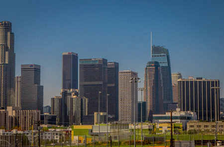Los Angeles, California, USA, AUGUST, 20, 2018: Beautiful outdoor view of downtown Cityscape Los Angeles, California Editorial