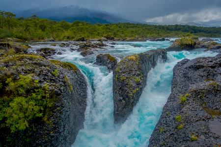 Beautiful waterfalls in Saltos de Petrohue, Chile.