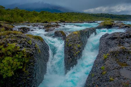 Beautiful waterfalls in Saltos de Petrohue, Chile 写真素材