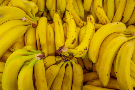 Close up of selective focus of fresh bananas background Stock Photo
