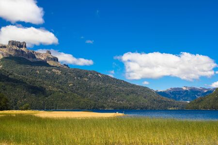Falkner Lake located in the Nahuel Huapi National Park, province of Neuquen, Argentina.