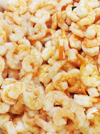 Top view of a close up of uncooked shrimp background. Stok Fotoğraf