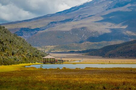 Cotopaxi national park, Ecuador in a sunny and windy day.