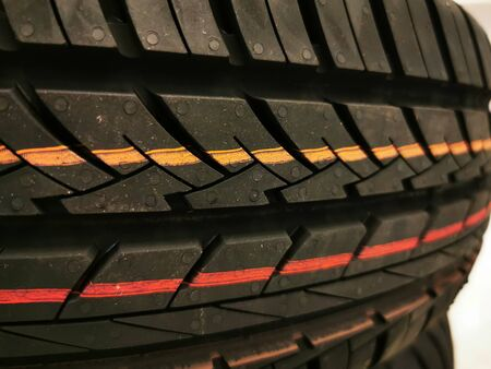 Tire thread patter. Car tire thread pattern background.