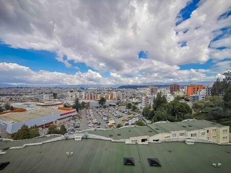 Panorama of Quito, Ecuador from the Pichincha Volcano