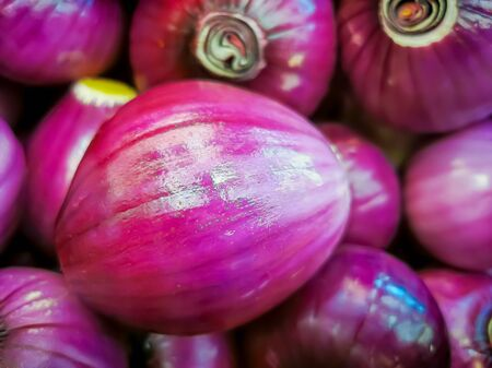 Organic shallot onions sold at local farmers market