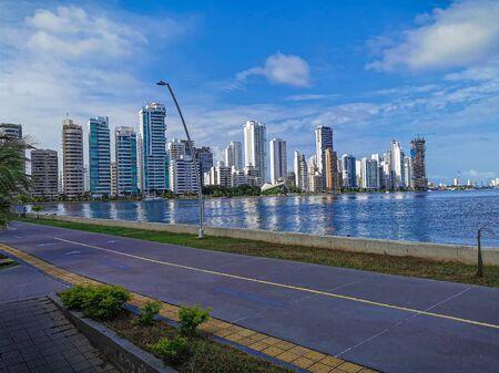 Bocagrande neighborhood of Cartagena. Skyline, architecture