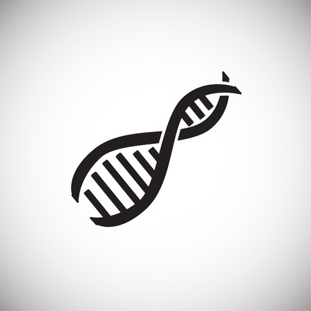 RNA DNA structure on white background icon