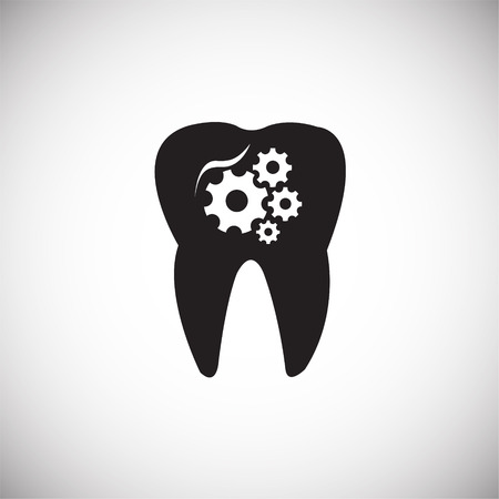 Stomatology on white background icon