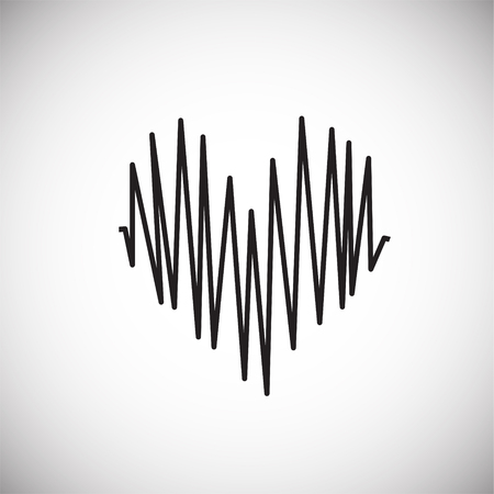 Heart rate on white background icon