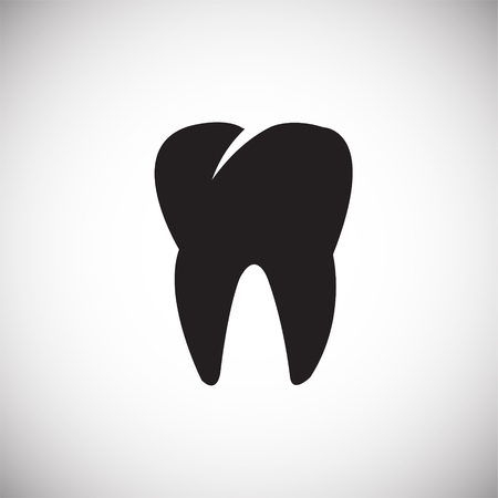 Tooth icon on white background icon Banco de Imagens