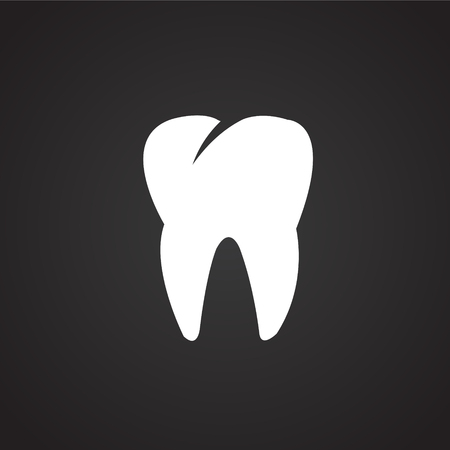 Tooth icon on black background icon Imagens