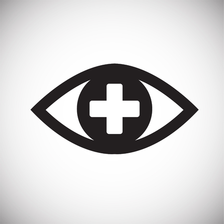 Ophtalmology eye icon on white background icon