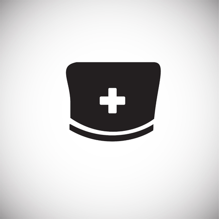 Medical hat on white background icon