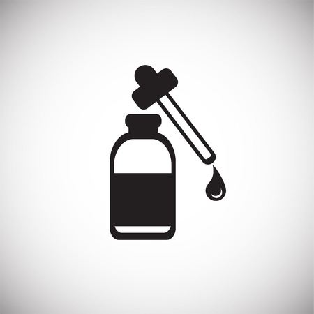 Cure dropper on white background icon