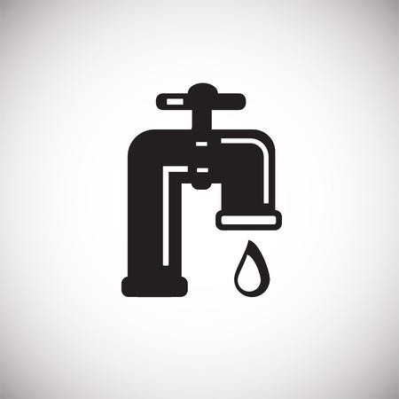 Oil valve icon on white backround icon