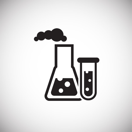 Oil research petrochemistry on white background icon