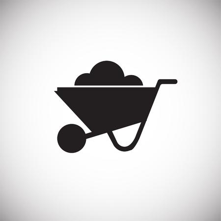 Cart on white background icon Stockfoto
