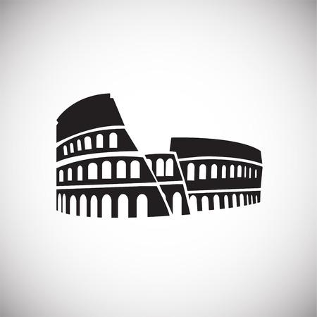 Colloseum on white background icon Stock Illustratie
