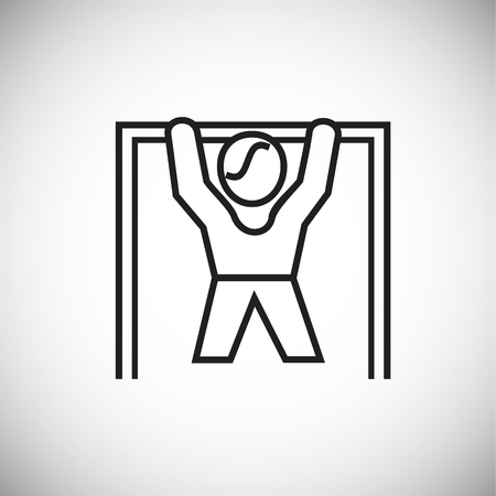 Pull ups thin line on white background icon Stock Photo