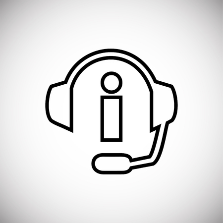 Info call center thin line on white background icon